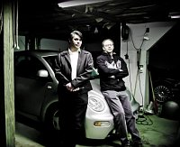 Ota Ulč and Nick Jarrett in the garage, photo: Mongol Rallye