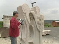 Escultura en Ratíškovice, foto: ČT