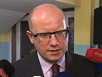 Prime Minister Bohuslav Sobotka, photo: ČT24