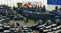 Miloš Zeman addresses European Parliament, photo: Czech Television