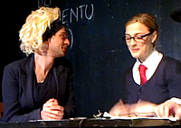Barbora Poláková as Kristýna Kočí (right) in 'Blond Bitch', photo: YouTube