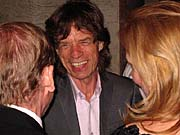 Mick Jagger with Vaclav Havel and Dagmar Havlova Royal Court Theatre, London, 14 June 2006, photo: Paul Wilson