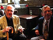 Harold Pinter and Vaclav Havel, Royal Court Theatre, London, 18 June 2006, photo: Paul Wilson