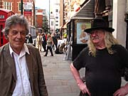 Tom Stoppard and Ivan Jirous at the Royal Court Theatre, London, 14 June 2006, photo: Paul Wilson