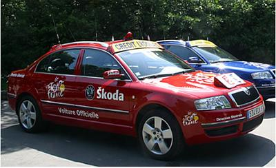 skoda voiture officielle du tour de france radio prague. Black Bedroom Furniture Sets. Home Design Ideas
