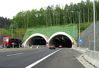 The tunnel on the Plze by-pass, photo: Wikipedia