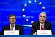 Státní tajemník Zoltán Balog a komisař Laszlo Andor na tiskové konferenci (Foto: Evropská unie)