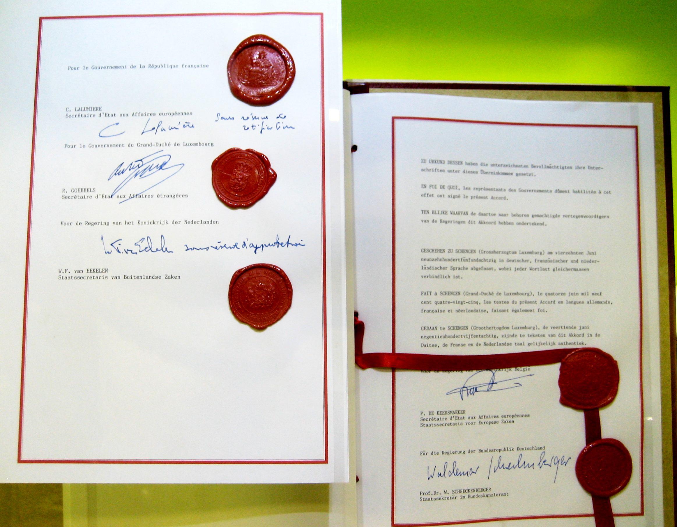 Schengenská dohoda, foto: Wikimedia Commons, CC BY-SA 3.0