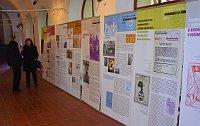 Thomas Thiele (links) und die Ausstellung über die Revolten der Jugendlichen gegen das SED-Regime (Foto: Archiv des Museums Lichtenberg)
