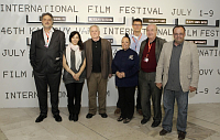 The main jury at the 46th Karlovy Vary IFF: Vladimír Balko, Sibel Kekilli, István Szabó, Edna Fainaru, Pavel Strnad, Michel Ciment, Michel Demopulos, photo: Film Servis Festival Karlovy Vary
