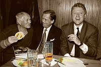 Bohumil Hrabal, Václav Havel, Bill Clinton, photo: Jiří Jírů