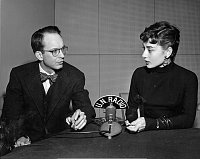 William N. Oatis with Audrey Hepburn in 1953, photo: unmultimedia.org