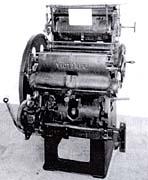 Druckmaschine, die zur Herstellung gefälschten Geldes genutzt wurde
