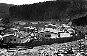Pohled na cikánský tábor v Hodoníně u Kunštátu; zdroj: fotografie z MRK (originál uložen v NAP)