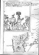 Mapa de Nueva España del jesuita Adam Gilg, fuente: Archivo Provincial Moravo de Brno)