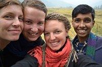 Zuzana Paseková, Alice Koudelková, Šárka Starobová, Ramjalam Thakur, photo: archive of Shanti