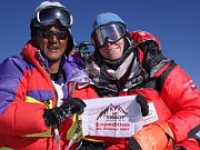 Klara Polackova and Tashi Tenzing on the top of Mount Everest, photo: www.klarapolackova.cz