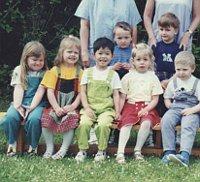 Huyen Vi Tranová in kindergarten, photo: archive of Huyen Vi Tranová