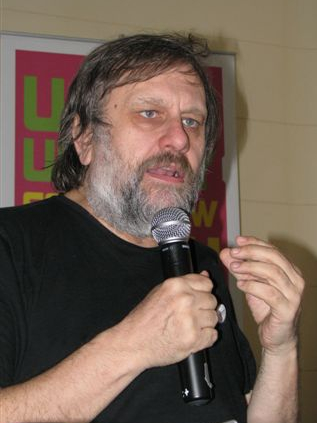 Slovenian philosopher slavoj i ek on social unrest fall for Farcical german translation