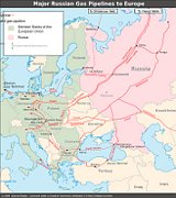 Major Russian Gas pipelines to Europe, source: Samuel Bailey, CC BY 3.0