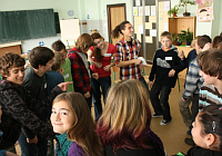 Czech students at a workshop