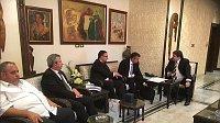 Michal Lukeš (au centre), a accompagné au mois d'octobre dernier une délégation du ministère des Affaires étrangères en Syrie, photo: Museée national