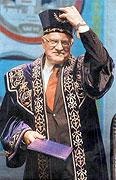 President Vaclav Klaus in Kazakhstan, photo: Dan Materna, MFDnes, 9.9.2004