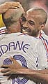 Zinedine Zidane et Thierry Henry, photo: MFDnes, 3.7.06