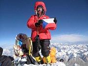 Pavel Bém na vrcholu Everestu, foto: archiv P. Béma