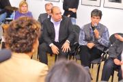 Josef Fečo mladší (uprostřed) na diskusi s kanadskou guvernérkou (Foto: www.combatcamera.ca)