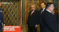 Miloš Zeman during an inspection of the crown jewels, photo: TV Nova