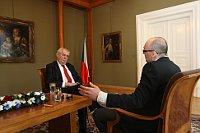 Президент Милош Земан и редактор Кирилл Щелков (Фото: архив Канцелярии президента Чешской Республики)