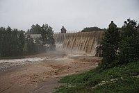 Vodní nádrž Mlýnice při povodních vroce 2010, foto: Jiří Forst (Creative Commons 3.0 Unported)