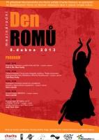 Program Mezinárodního dne Romů v Olomouci 8. dubna 2013 (Zdroj: Charita Olomouc)