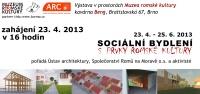 Pozvánka na výstavu Sociálního bydlení s prvky romské kultury (Zdroj: Muzeum romské kultury)