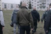 Marek se svými neonacistickými přáteli (Foto: www.mirafox.sk)