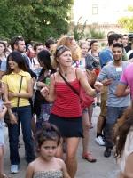 Návštěvníci Ghettofestu na koncertu Zdeňka Bíny (Foto: František Zemek)