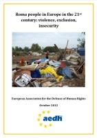 Zpráva Romové v Evropě ve 21. století – násilí, vyloučení, nejistota (Zdroj: www.aedh.eu)