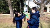 Vázání stužek na Strom Tolerance v brněnském parku Lužánky (Foto: www.facebook.com/denromubrno)