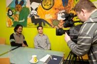 Natáčení pořadu Romaňi luma – Romský svět (Foto: Česká televize)