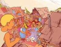Pozvánka na výstavu Příběh dětí víly Kesaj (Zdroj: Muzeum romské kultury)