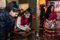 Návštěvníci stálé expozice Muzea romské kultury (Foto: Muzeum romské kultury)