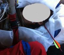 Martin Hospodi smrtelně zraněný střelbou z kuše (Foto: Územní středisko záchranné služby Moravskoslezského kraje)