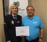 Oceněný asistent prevence kriminality Ján Polyák (Foto: Městská policie Brno, www.mpb.cz)