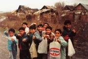 Děti v osadě Jarovnice