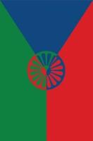 Tomáš Rafa: Jeden z návrhů česko-romské vlajky
