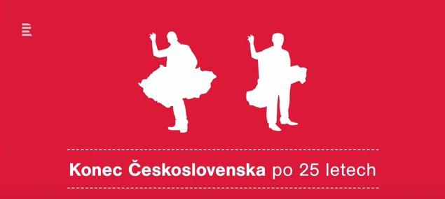 El 25 aniversario de la desintegración de Checoslovaquia, fuente: Archivo de ČRo