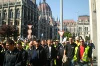 Demonstrace v Maďarsku (Ilustrační foto: Gregor Martin Papucsek)