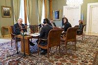 Interview mit dem Staatspräsidenten (Foto: Khalil Baalbaki, Archiv des Tschechischen Rundfunks)
