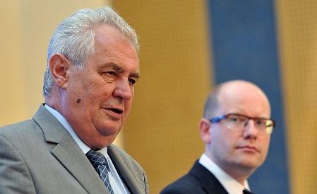 Miloš Zeman, Bohuslav Sobotka, photo: Filip Jandourek